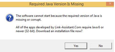 Lỗi Java dưới 6.0