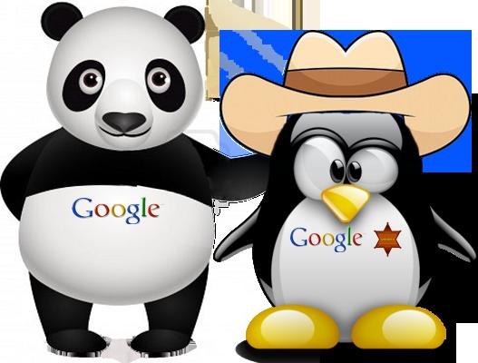 Panda hoặc Penguin của Google