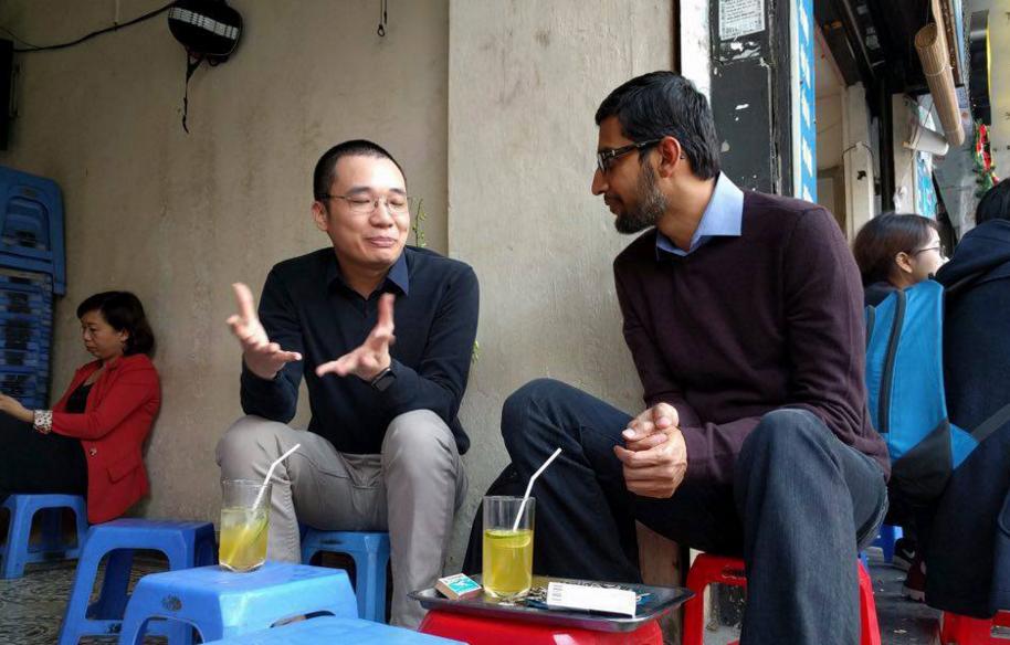 CEO Google trà chanh cùng Nguyễn Hà Đông