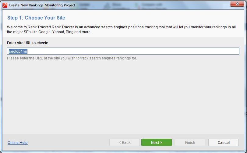 Nhập Website cần kiểm tra