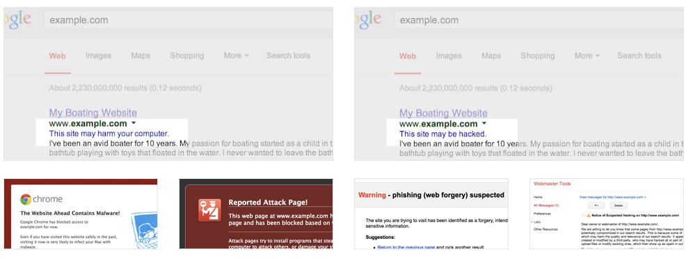 Biểu hiện website bị Hack