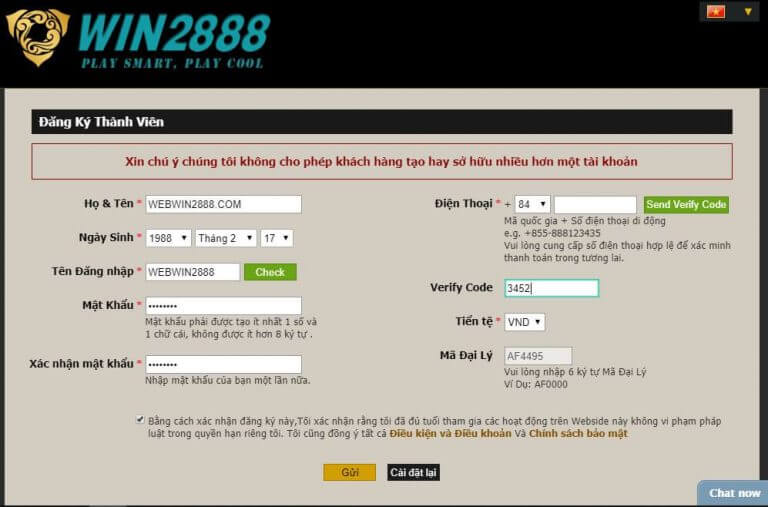 How to Win2888 register